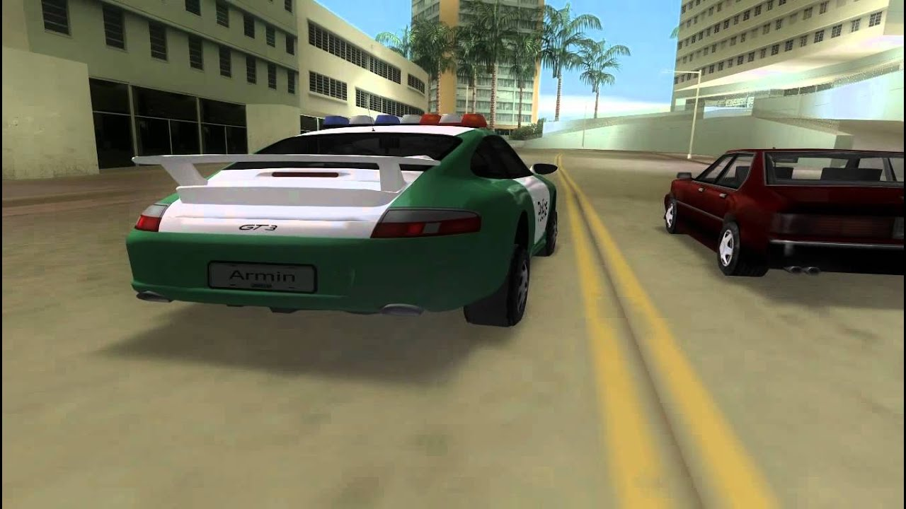 Porsche 911 Gt3 Police Gta Vice City Youtube