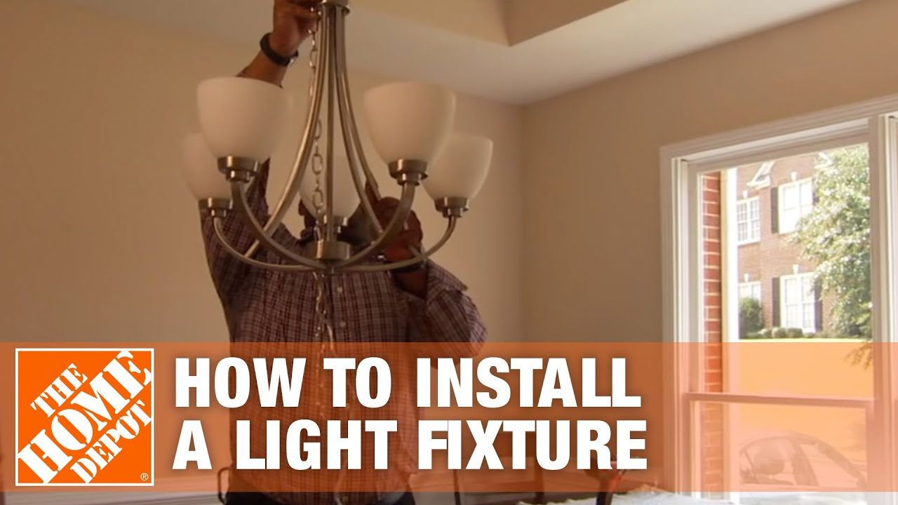 How to Install a Light Fixture - The Home Depot