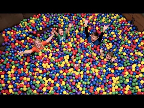 BALL PIT IN OUR HOUSE! | Surprising Mom