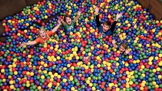 Ball Pit in Our House! We surprised mom and the kids with a giant i...