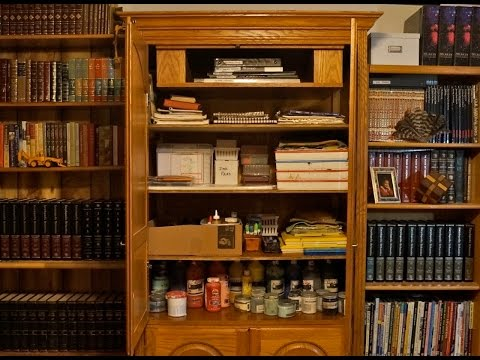 Converting TV Entertainment Unit into Craft Supply Closet