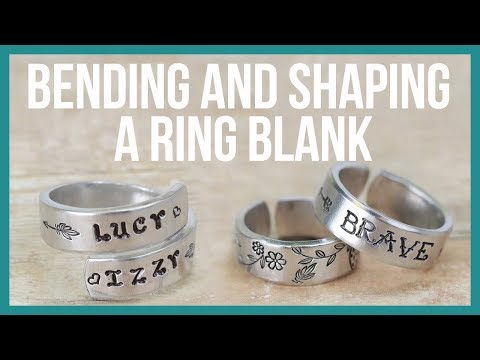 How to Bend, Curl and Shape a Flat Ring Blank - Beaducation.com