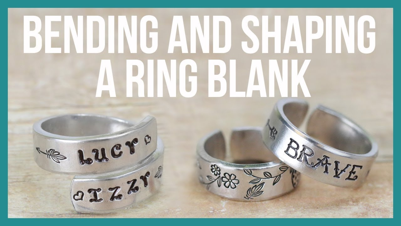 How to Metal Stamp, Bend, Curl and Shape a Flat Ring Blank ...
