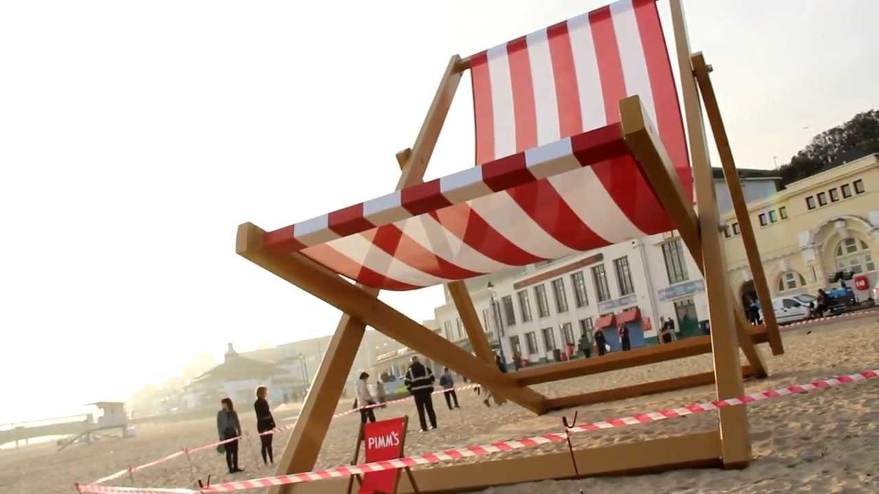 Etonnant Worldu0027s Largest Deck Chair On Bournemouth Beach