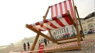 World's Largest Deck Chair On Bournemouth Beach