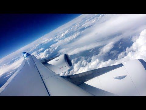 AIR TAHITI NUI 8 FIGHTING TURBULENCE WHILE CROSSING THE USA