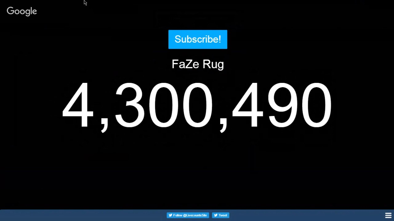 Read Description Wanna See Faze Rug S Sub Count Here It