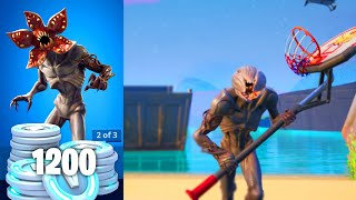 Demogorgon fortnite skin gameplay | HOW TO OPEN FACE