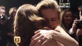 Emma Stone And Brie Larson Embrace Cry After Best Actress Win