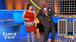 Steve Harvey, the newest Chippendale! | Family Feud