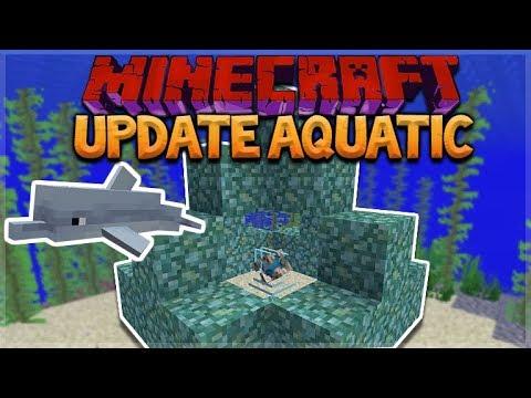 AQUATIC UPDATE - MINECRAFT 1.13 SURVIVAL ISLAND! Pet Dolphins!