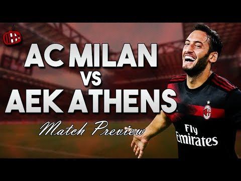 AC Milan vs AEK Athens   UEFA Europa League   PREVIEW
