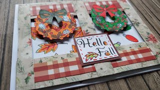 Live Crafting Fall Meets Christmas Card