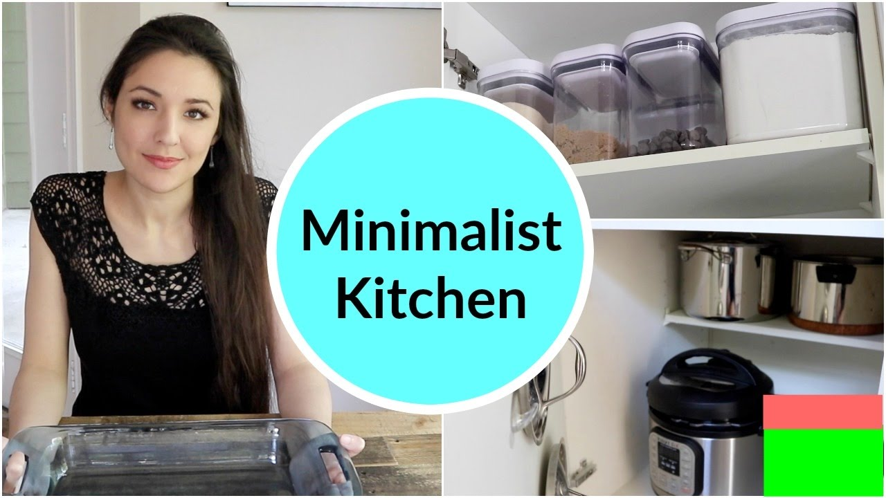 Minimalist Kitchen Organization - YouTube