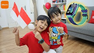 Ziyan Lomba Agustusan Di Rumah Dapat Hadiah imoo Watch Phone