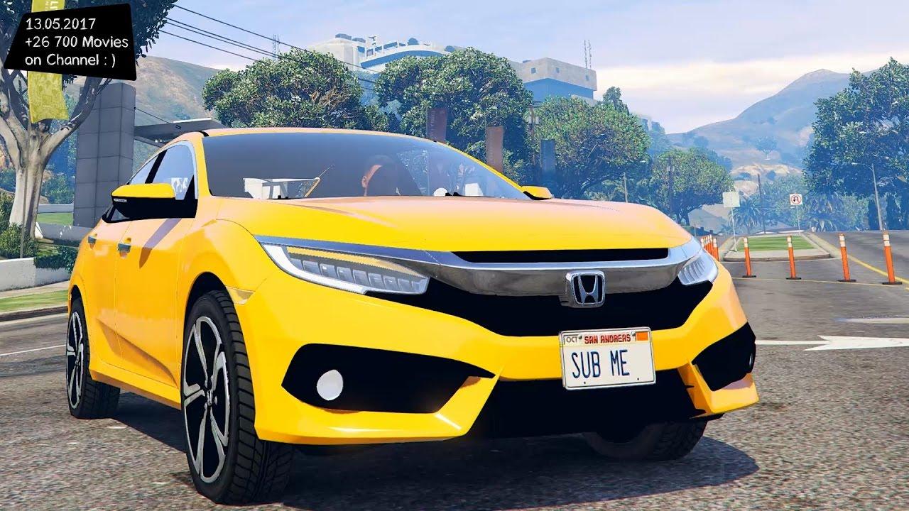 2017 Honda Civic Touring New ENB Top Speed Test GTA Mod ...