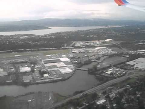 Arrival into Seattle Tacoma International Airport Rainy Day