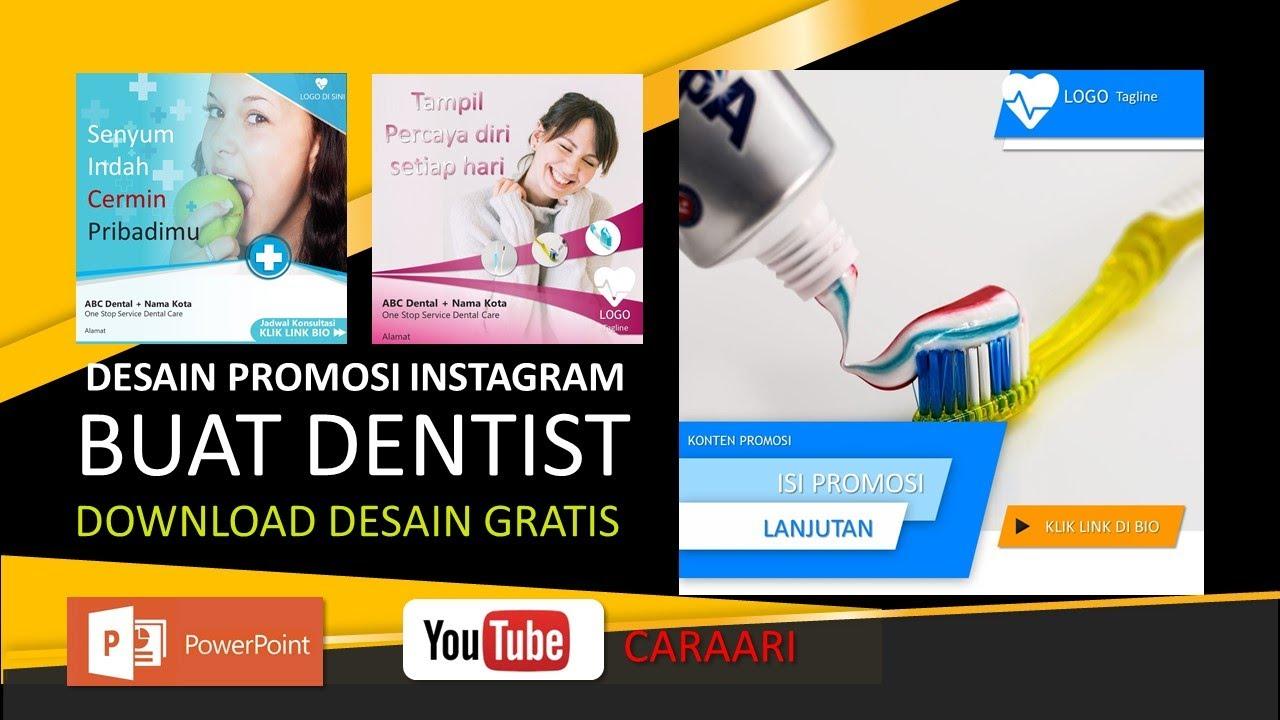 Desain Promosi Instagram Dentist Gigi Sehat Download Template Powerpoint Gratis Youtube