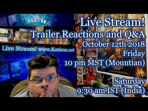 🔴🎥 Nala - Trailer Reaction and Q&A Live Stream! October 12th, 2018