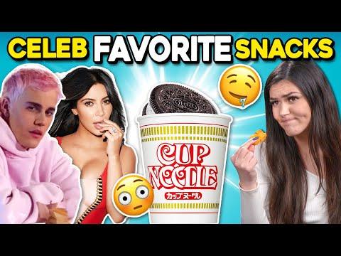 Trying Celebrity Guilty Pleasure Foods | People Vs. Food