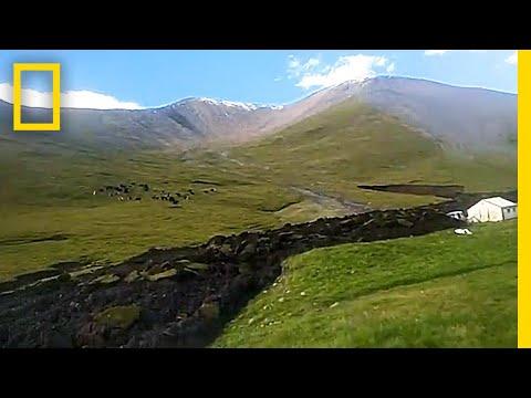 Bizarre 'Lava-Like' Landslide Tears Through Hillside | National Geographic