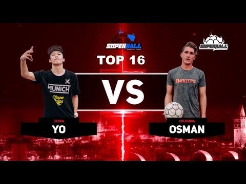 "World Freestyle Football Championships ""SuperBall 2018"" - BEST16 Yo vs Ozman"