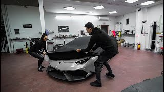 CHANGED THE COLOR OF THE LAMBO BEFORE SHIPPING IT TO THE USA !!!