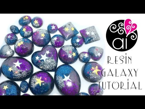 Resin Galaxy Cabochon | DIY Tutorial Epoxy Resin Fil Cristal Reschimica
