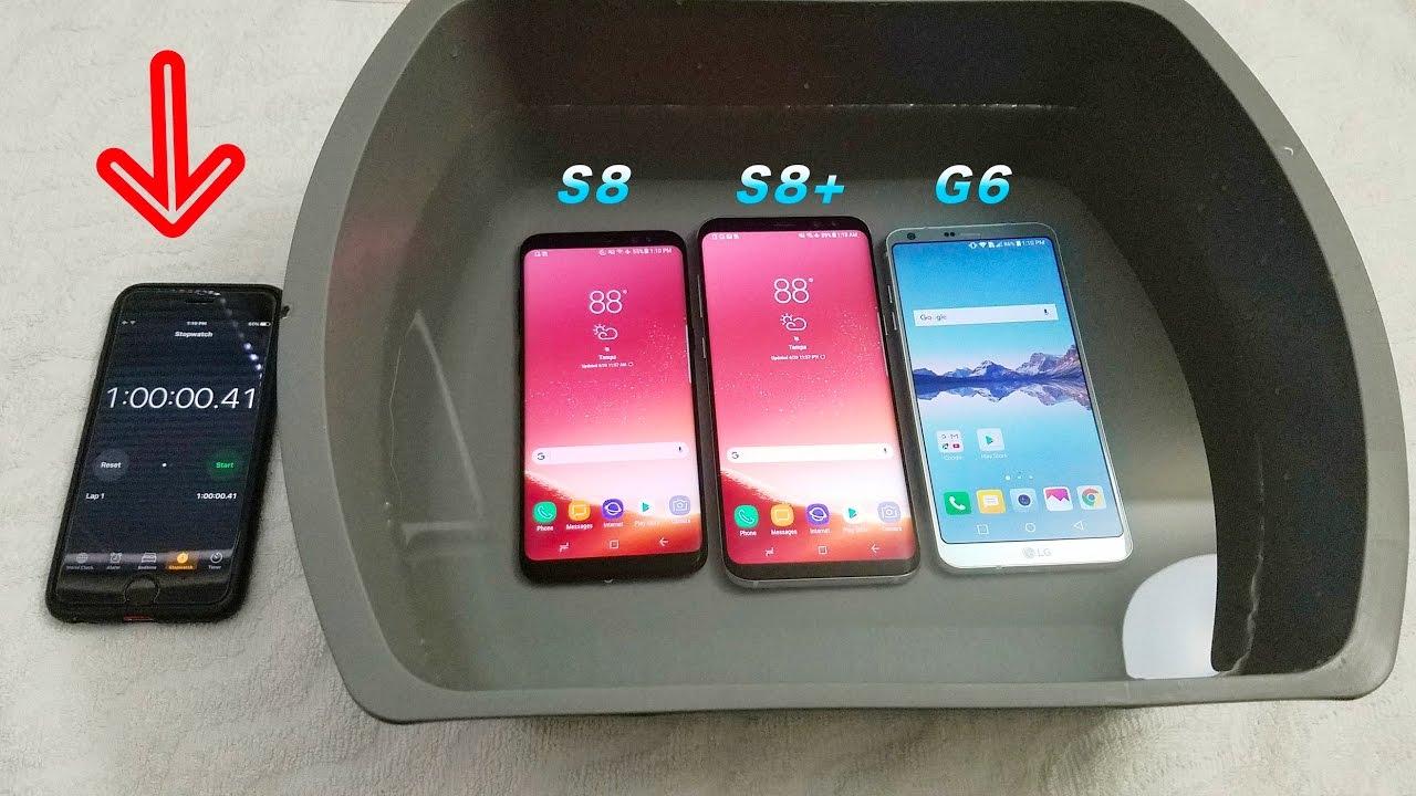 new styles 250ef e2e86 Samsung Galaxy S8 Vs S8 Plus Vs LG G6 Water Test! Secretly Waterproof?