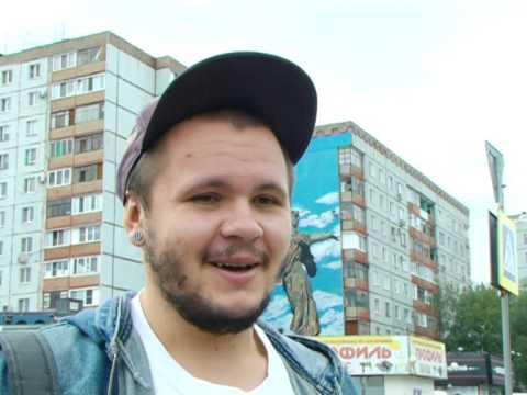 Граффити-картины на домах в Новокуйбышевске