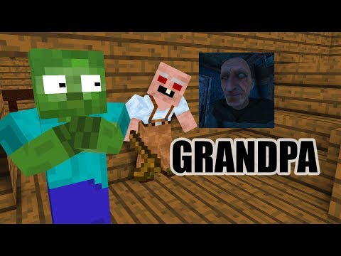 Monster School : GRANDPA HORROR GAME CHALLENGE - Minecraft Animation