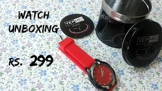 YEPME watch unboxing | watch in 299 Rs./ 5$ | Yepme Ronald Unisex Watch - Red | Indian Consumer