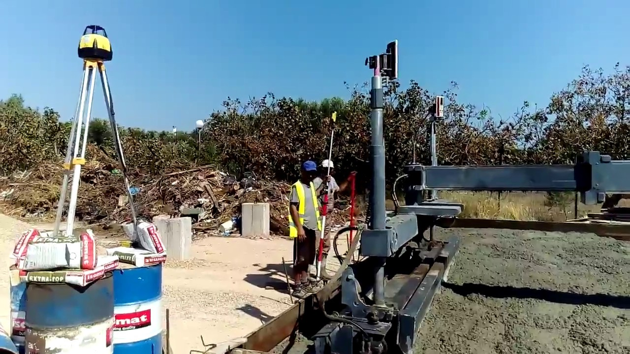 Somero laser screed Intrakat test