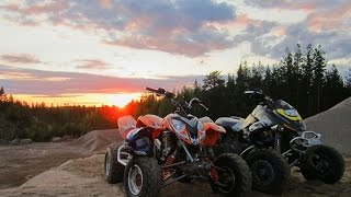 Ridin on trails for the last time with Predator 500TLD and bombardier ds650
