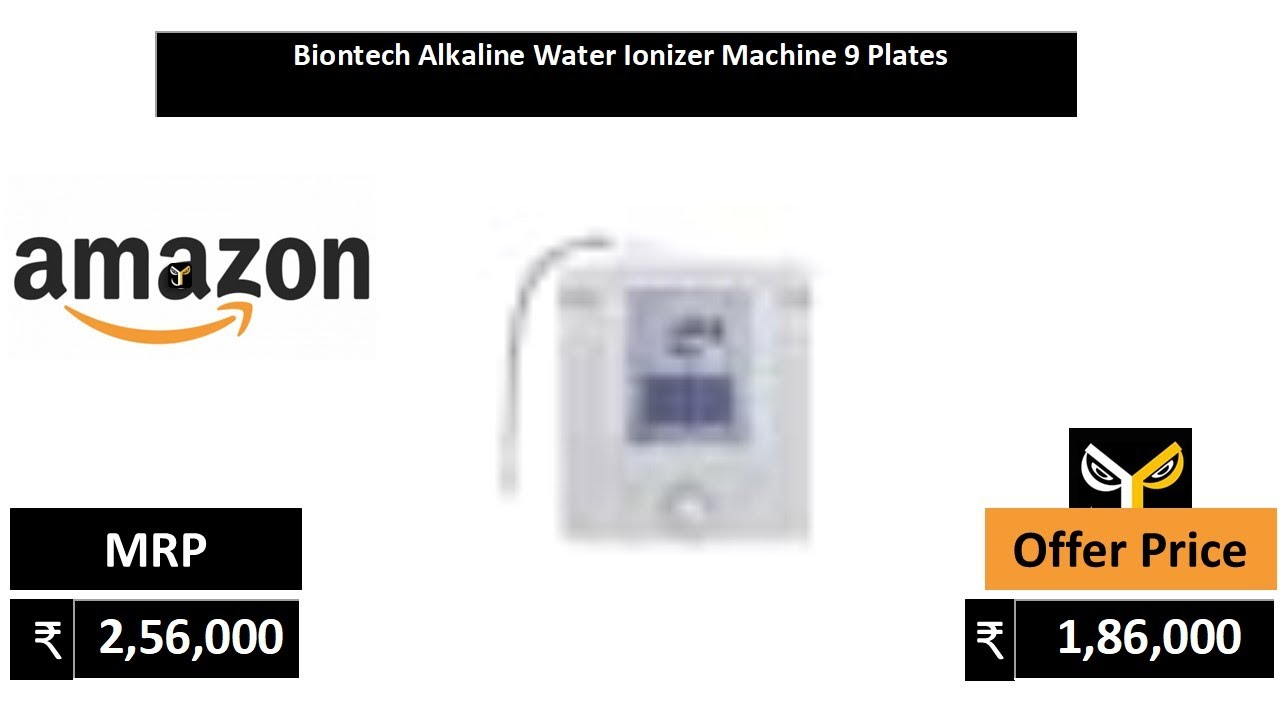 Biontech Alkaline Water Ionizer Machine 9 Plates Youtube