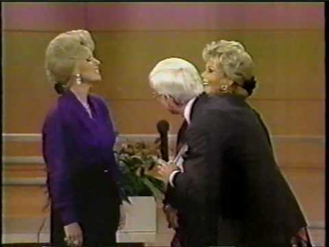 Zsa Zsa Gabor on The Phil Donahue Show meeting Victoria Jackson as Zsa Zsa