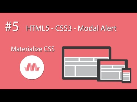 HTML5 - CSS3 - Material Design - Materialize CSS - #5 Modal Alert