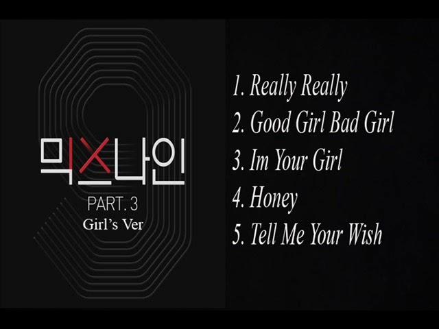 [Audio] MIX NINE part 3 Girl's Ver #1