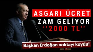 ASGARİ ÜCRET'e ne KADAR ZAM GELECEK ? - Erdoğan Açıkladı !  SON DAKİKA GELİŞMESİ ! Video