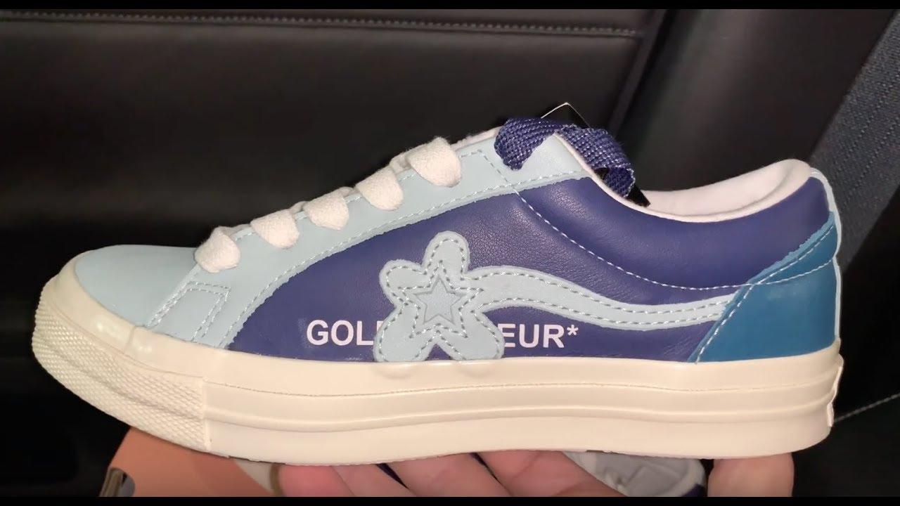 Converse Golf Le Fleur Ox Barely Blue Shoes Youtube