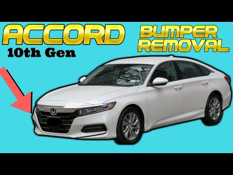 2018 Honda Accord Front Bumper Cover Removal How to Remove Replace Install 10th Gen