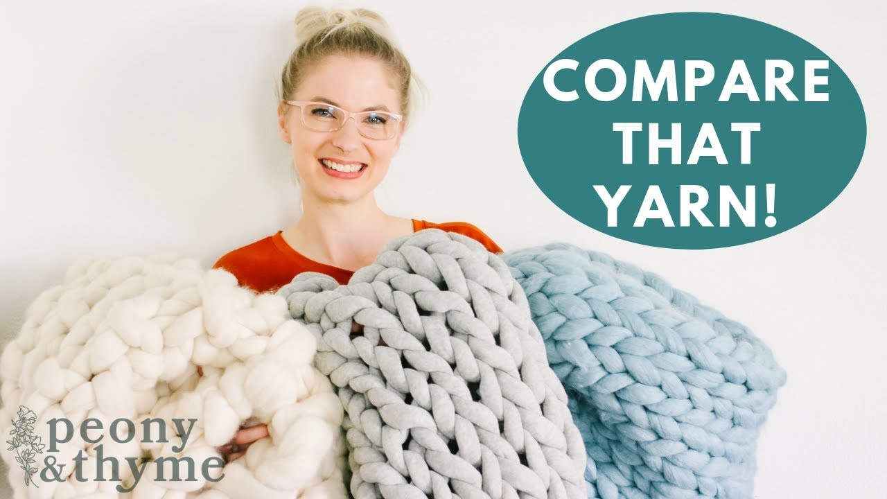 Watch Me Compare Three Different Giant Yarn Options Youtube