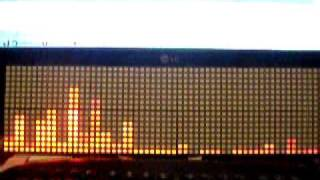 My DIY LED matrix in 64x16 configuration - demo
