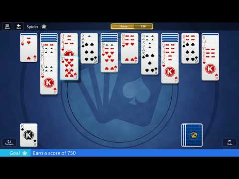 ᐈ 16 August 2019 - SPIDER SOLITAIRE - Microsoft Solitaire Collection (earn a score of 750) from YouTube · Duration:  14 minutes 14 seconds