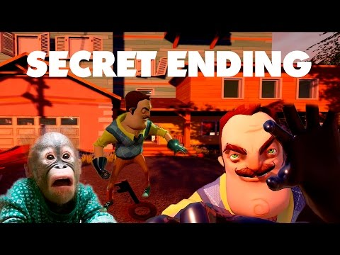 HELLO NEIGHBOR - SECRET ENDING REVEALED - HOW TO BURN THE BEAR!!!
