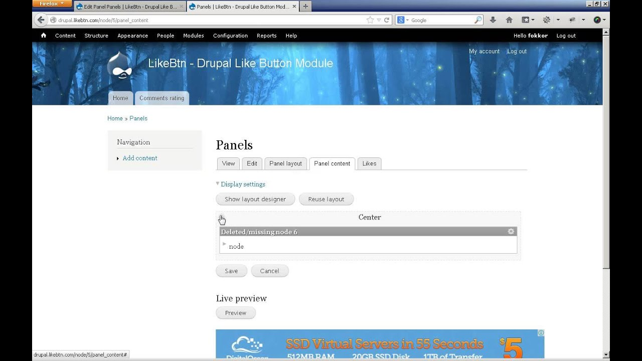Creating Like Button content type in Drupal and using it in Panels