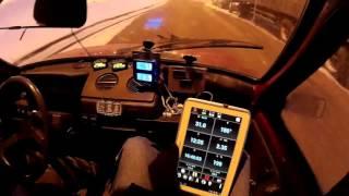 Электро ОКА (электромобиль) выезд №19_2  08 01 16 г.  Скольжение составляет 4% - electric car VAZ