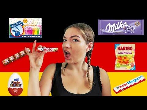 BRITISH GIRL TRIES GERMAN SNACKS 🇩🇪  Englisches Mädchen probiert deutsche Süßigkeiten