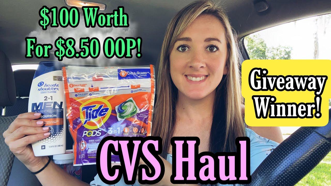 CVS Haul - $100 worth for $8.50 OOP! 8/1-7/21