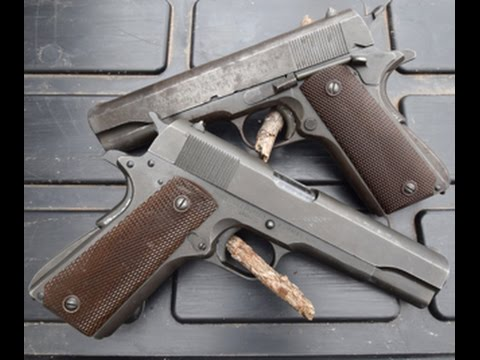 WWII 1911A1s: Colt and Remington Rand pistols